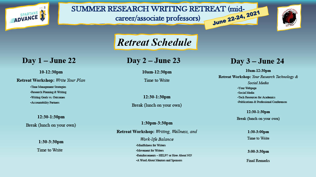 Summer-Research-Writing-Retreat-Flyer-with-Schedule